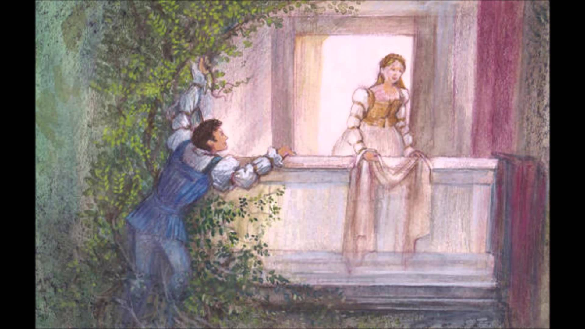 Romeo and juliet balcony scene painting.